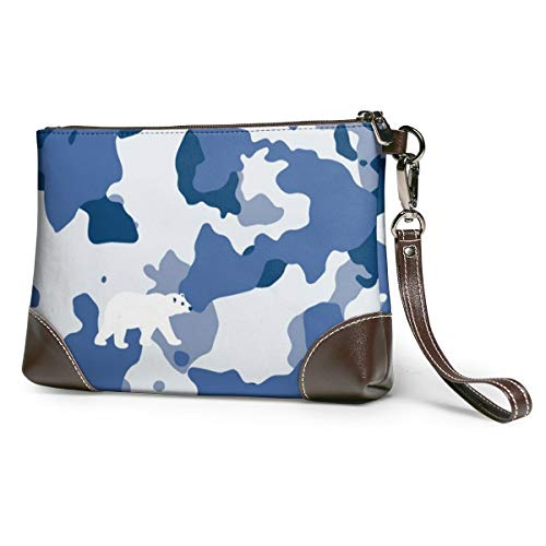 Blue Camouflage Leather...