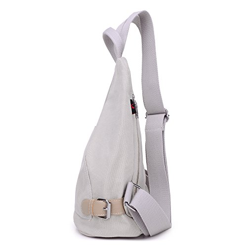 Mochila de lona, escolar, mochila impermeable, bolsas de viaje Beige