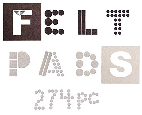 Felt Furniture Pads - Hardwood Floor Protectors - for - Chair Legs and Furniture Feet - MEGA-Pack of Thick and Sticky Felt Pads with The Most Popular Sizes and Colors for Your Home Or Office. by Tuff Togs