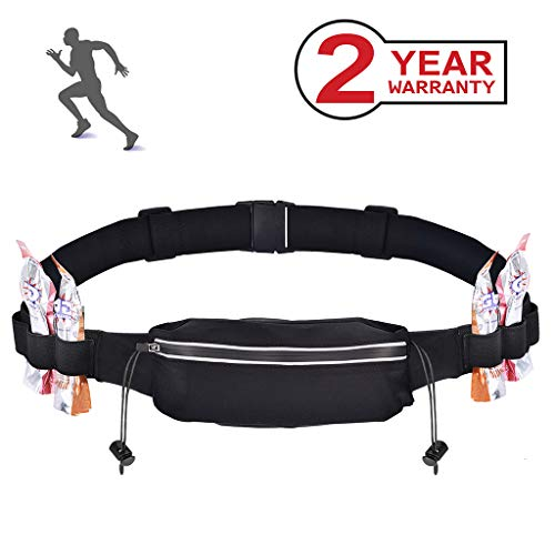 Running Number - Avantree Race Number Belt for Marathon Running, Triathlons, Reflective with 4 Energy Gel Loops