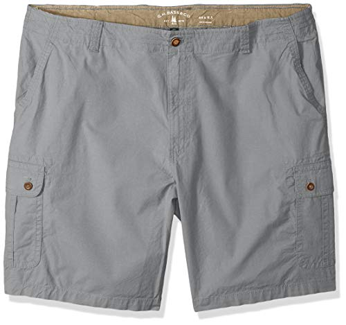 (G.H. Bass & Co. Men's Big and Tall Ripstop Stretch Cargo Short, Shark Skin, 44)