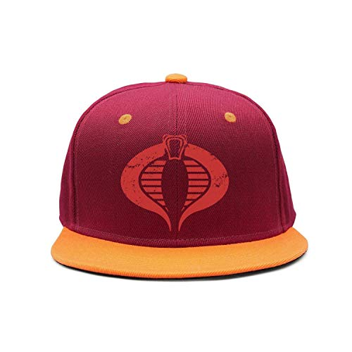 Man Snake red Vintage Cobra Baseball Cap Snapback (Cobra Caps Cotton Headband)