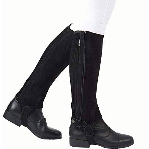 - Dublin Childs Suede II Half Chaps Large Black