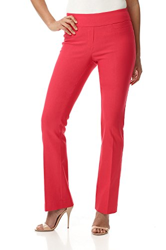 Rekucci Women's Ease in to Comfort Boot Cut Pant (2,Lipstick)