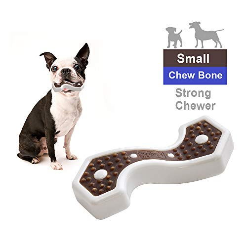 EETOYS Dog Chew Toys for Aggressive Chewers Nearly Indestructible Durable Tough Dog Toy with Bacon Flavored Potato…