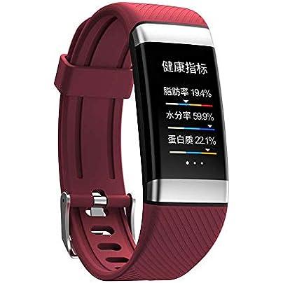 WLLIT Smart Watch Smart Wristband Strap 2019 new smart bracelet ladies heart rate ECG body fat bracelet health pedometer waterproof sports bracelet Fitness Watch-red Estimated Price -