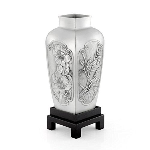 Royal Selangor Hand Finished Four Gentlemen Collection Pewter Vase