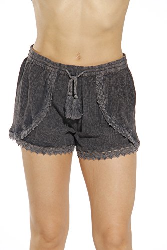 Riviera Sun Womens Shorts 21727-BLACK Denim-M