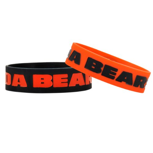 Chicago Bears Rubber Bracelet - Chicago Bears Bulk Bandz Bracelet 2 Pack