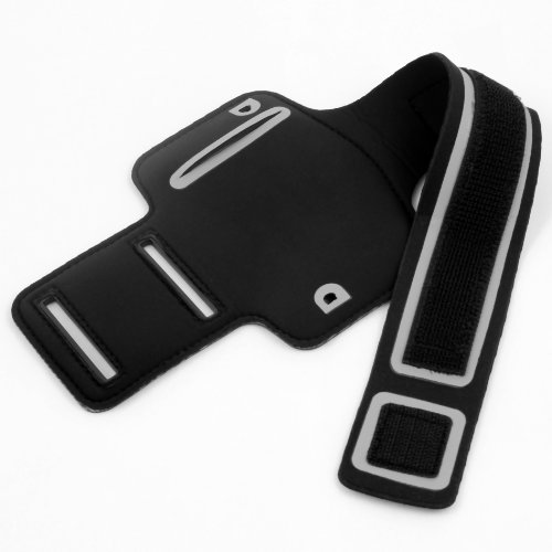 niceEshop Black Sports Running Leather Punch Case Cover Fit for iPhone4 4G 4S