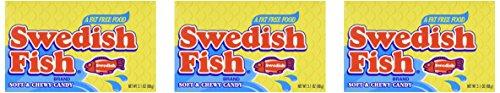 Swedish Fish 3.1oz Theater Box - Three (3) Pack ()