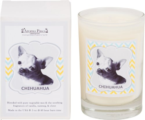 - Aroma Paws Breed Candle Glass, 5-Ounce, Chihuahua