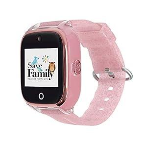 Reloj con GPS para NIÑOS Save Family Modelo Superior ACUÁTICO con Camara Color Rosa Glitter 416e17r6NCL