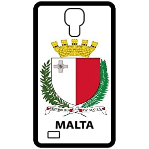 Malta - Country Coat Of Arms Flag Emblem Black For Case Iphone 5/5S Cover Cell Phone