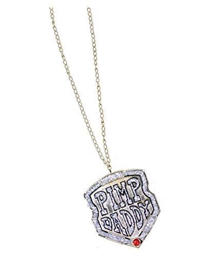 FunWorld Pimp Daddy Rapper Necklace Medallion Fancy Theme Party Dress - Necklace Pimp Daddy