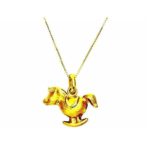 c95afc1a7f21 Pegaso Joyería – Collar oro amarillo 18 kt Veneta colgante caballo de  balancín ...