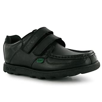 1e61e8f06096c Kickers Fragma Strap Children Shoes[1,Black]: Amazon.co.uk: Clothing