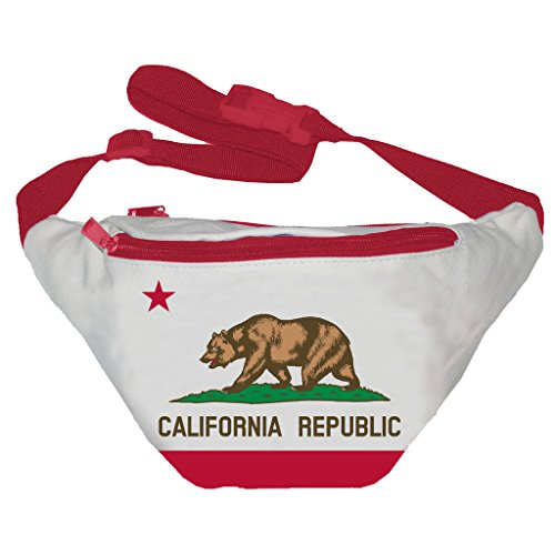 [Funny Guy Mugs California Flag Fanny Pack] (Easy Halloween Costume Ideas For Guys)