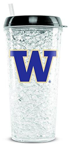 - NCAA Washington Huskies 16oz Crystal Freezer Tumbler with Lid and Straw