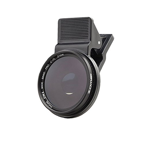 ZOMEi 37MM Professional Cell Phone Camera Circular Polarizer Lens for iPhone 6S / 6S Plus / Samsung Galaxy / Windows and Android Smartphones