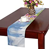 Clouds Clouded Sky Sky Cumulus Clouds Blue Weather Table Runner, Kitchen Dining Table Runner 16 X 72 Inch For Dinner Parties, Events, Decor