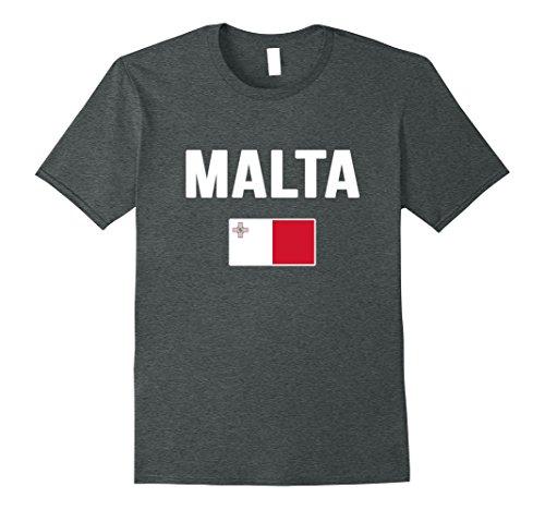 Mens Malta T-shirt Maltese Flag . Large Dark - Men Of Malta