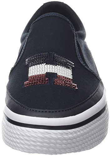 midnight Sneaker Tommy 403 Low top Flatform Women''s Sequins Blue Hilfiger nnqwUav6