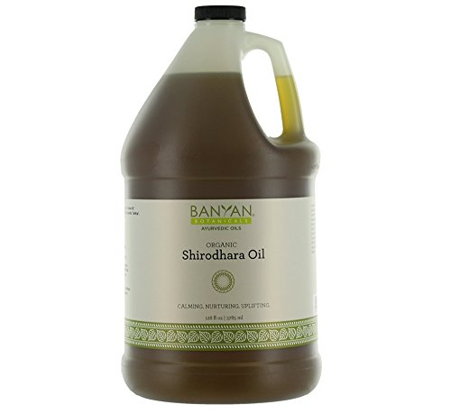 Banyan Botanicals Organic Shirodhara Oil - USDA Certified Organic, 128 oz - Calming, Nurturing, Uplifting - A tridoshic Blend That Clears and Calms The Mind*