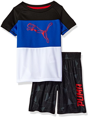 PUMA Boys' Toddler' 2 Piece Short and Tee Set, black1, 4T ()