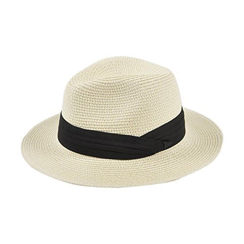 [Paladoo Womens Floppy Summer Sun Hat Beach Cap Wide Brim Straw Hats 1-Beige] (Straw Safari Hat)