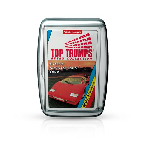 Top Trumps Exotic Sports Cars 1992 Retro Card Game