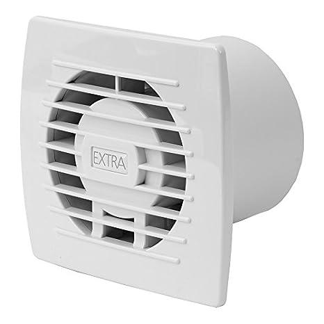 Ventilator Lüfter Badlüfter Wandlüfter Bad-Lüfter für WC Bad oder Küche Feuchtesteuerung Feuchtesensor weiss Ø 120 mm Durchmesser [HT] KERABAD