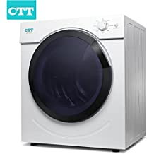 CTT Intelligent Compact Portable Tumble Clothes Dryer, Electric Tumble Vented Laundry Dryer, 12.5lb. Capacity/3.25 Cu.Ft. w/Timer Control, Intelligent Drying Control Systerm, Humidity Tester