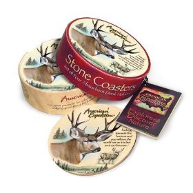(Mule Deer Stone Coaster Set By American Expedition)