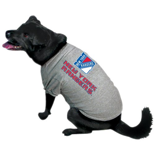 NHL New York Rangers Pet T-Shirt, Team Color, Large