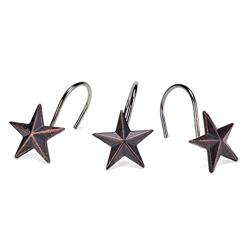 (AGPtek Star Decorative Shower Curtain Hooks, Set of 12)
