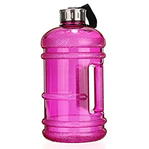 2.2 Litre Water Bottle,BPA Free Half Gallon Water Bottle - Drinking Container Jug - Resin Fitness Bottle for Gym,Dieting,Bodybuilding,Outdoor Sports,Hiking & Office Leisure Fitness By SGODDE (Purple)
