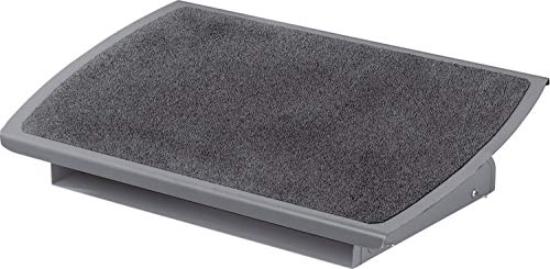 """3M Foot Rest, Height and Tilt Adjustable, 22"""" Extra Wide Platform with Safety-Walk Slip Resistant Surface Provides Ample Room for Both Feet, Heavy Duty Steel Construction, Charcoal Gray (FR530CB)"""