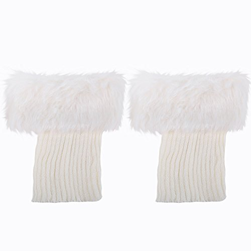 レッグウォーマー 冬暖かい脚の袖スリーブふわふわの熱い編み上げの足首の暖かい 防寒  冷え取り