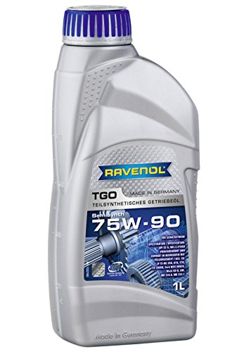 - RAVENOL J1C1101 SAE 75W-90 Gear Oil - TGO Semi Synthetic API GL-5 Spec (1 Liter)