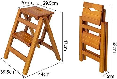 GYX Escalera de madera multifuncional para el hogar, Escalera plegable de dos escalones Escalera de madera pequeña portátil, 39.5 Times; 44 y tiempos; 47cm: Amazon.es: Bricolaje y herramientas
