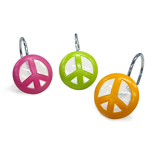 Allure Home Creations Peace Out Resin Shower Curtain Hooks