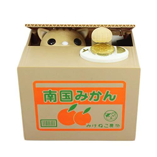 Piggy Bank, Kitten Robo Moneda Caja de Ahorro de Dinero Creativo Electró nico Operado con baterí a Juguete Educativo niñ os - Cat Amarillo Candybush
