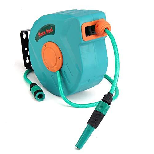XBW-03 10M Auto Rewind Garden Water Hose Reel Retractable Reel Hose Storage Spray Tool