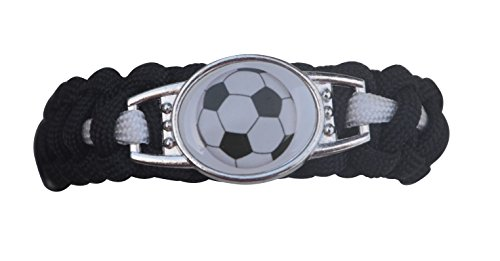 Soccer Bracelet, Soccer Jewelry, Adjustable Soccer Paracord Bracelets for Kids- Soccer Gifts for Girls & Boys Weaved Friendship Bracelet