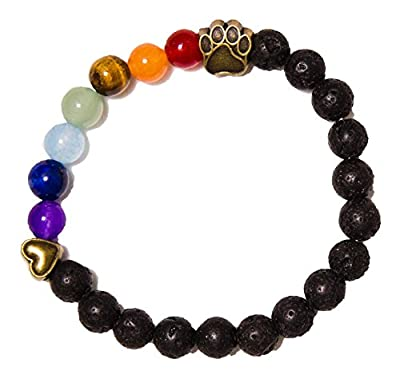Rainbow Bridge Lava Bead Pet Memorial Bracelet by iHeartDogs | Provides 7 Meals for Shelter Animals in Honor of Your Beloved Pet by iHeartDogs