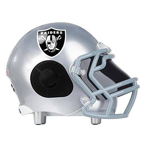 NIMA Portable Bluetooth Speaker, [Officially Licensed] NFL Helmet Wireless Dual Stereo Speaker with Built-in Microphone, Speakerphone, AUX, USB Port, Loud Subwoofer, HD Sound & Bass -Raiders ()