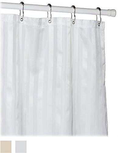 Croscill Fabric Shower Curtain Liner, 70-inch by 72-inch, White