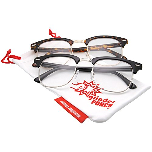 grinderPUNCH - Half frame Clear Lens - 2 (Colonel Sanders Glasses)