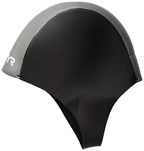 TYR 1THEL6AL Neoprene Swim Cap, Black, - Neoprene Caps Swim